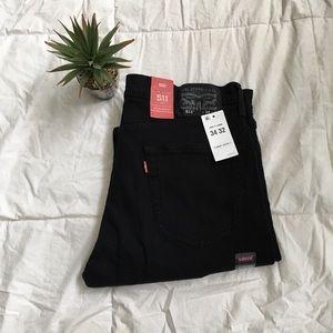 • New   Men's Slim Black Jeans